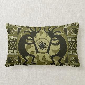 Southwestern Design Tribal Sun Kokopelli Lumbar Cushion