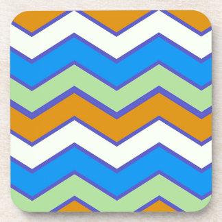 Southwestern Designer Majesty Zigzags Beverage Coasters