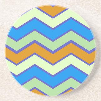 Southwestern Designer Majesty Zigzags Drink Coaster