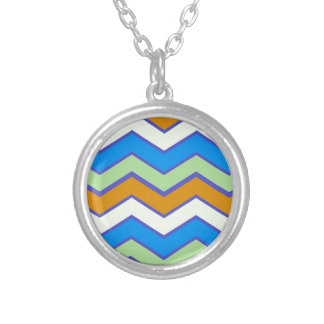 Southwestern Designer Majesty Zigzags Silver Plated Necklace