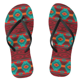 southwestern ethnic navaio tribal pattern thongs