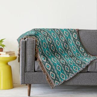 southwestern ethnic navajo tribal pattern throw blanket