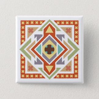 Southwestern Ethnic Tribal Pattern 15 Cm Square Badge