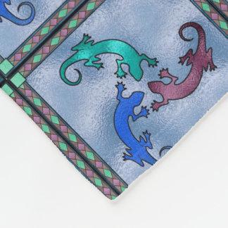 Southwestern faux stained glass fleece blanket