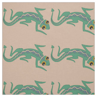Southwestern Lizard with Pale Purple Stripe Fabric