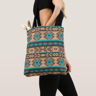 Southwestern navajo ethnic tribal pattern. tote bag