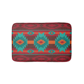 southwestern navajo geometric pattern bath mat