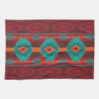 Southwestern navajo geometric pattern. tea towel
