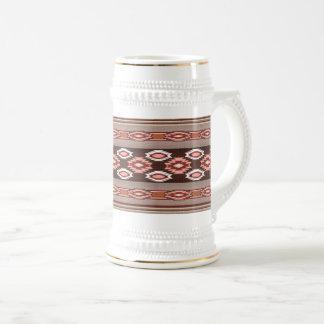 Southwestern navajo tribal pattern beer stein