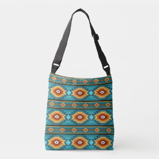 Southwestern navajo tribal pattern crossbody bag