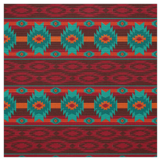 Southwestern navajo tribal pattern fabric