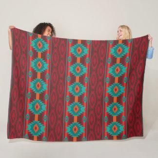 Southwestern navajo tribal pattern. fleece blanket