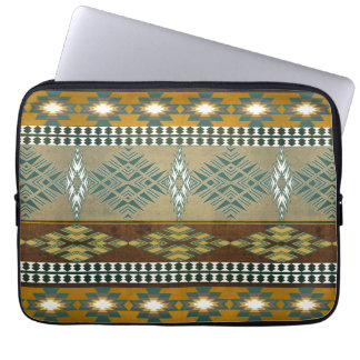 Southwestern navajo tribal pattern laptop computer sleeve
