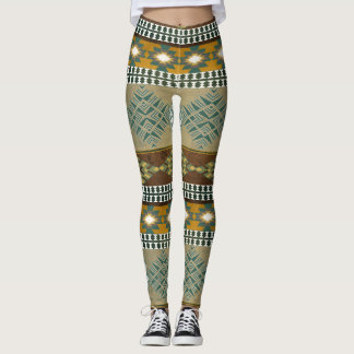 Southwestern navajo tribal pattern leggings