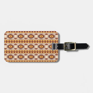 Southwestern navajo tribal pattern luggage tag