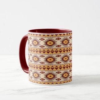 Southwestern navajo tribal pattern mug