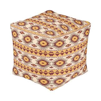 Southwestern navajo tribal pattern pouf