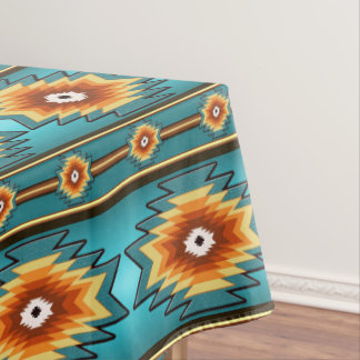 Southwestern navajo tribal pattern tablecloth