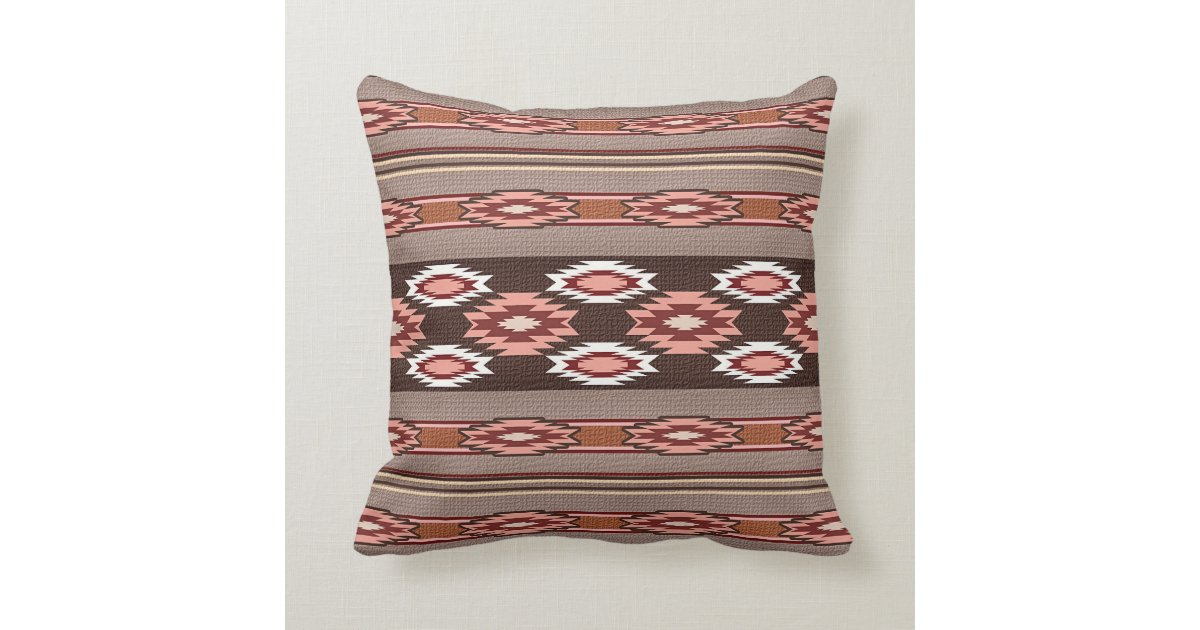 Southwestern Pillows And Throws : Southwestern navajo tribal pattern throw pillow Zazzle