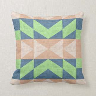 Southwestern Pattern Faux Burlap Cushion