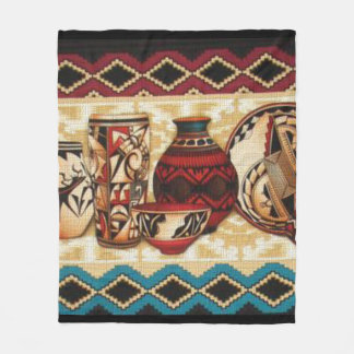 Southwestern Pattern fun fleece blanket