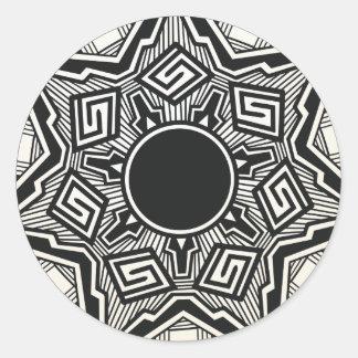 Southwestern Pueblo pottery design Classic Round Sticker