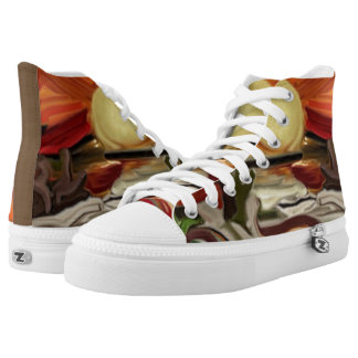 Southwestern Skies Abstract Art High Tops