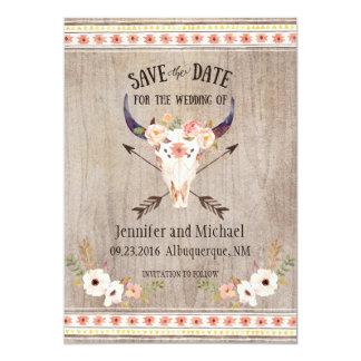 Southwestern Skull and Arrow Save the Date 13 Cm X 18 Cm Invitation Card