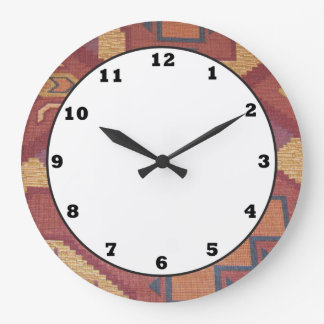 Southwestern style pattern fun wall clock