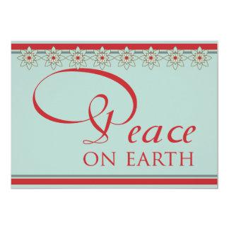 "Southwestern Style Peace On Earth Christmas 5"" X 7"" Invitation Card"