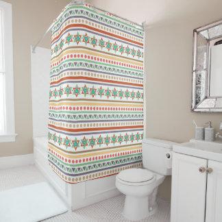 Southwestern Style Tribal Pattern Shower Curtain