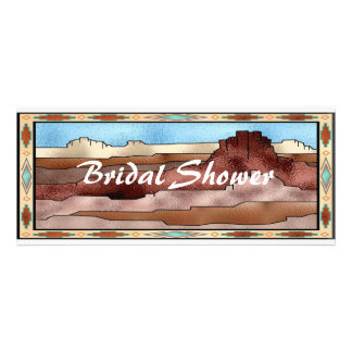 Southwestern Theme Bridal Shower Invitation