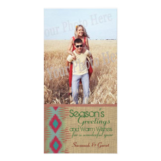 Southwestern Weave Holiday Greeting Photo Card Template