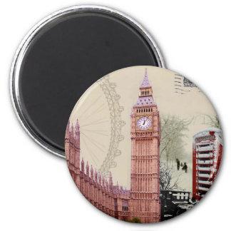 souvenir 6 cm round magnet
