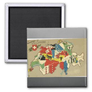 Souvenir De La Suisse, Vintage Magnet