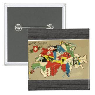 Souvenir De La Suisse Vintage Pins