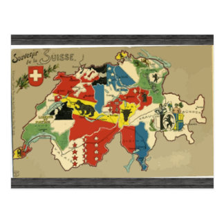 Souvenir De La Suisse, Vintage Postcard