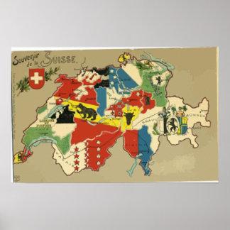 Souvenir De La Suisse, Vintage Posters