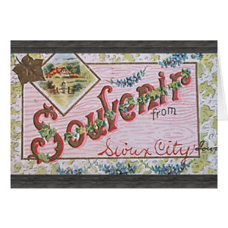 Souvenir From Sioux City Lover, Vintage Greeting Card
