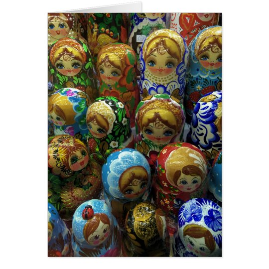 Souvenir Matryoshka Dolls Thank You Card