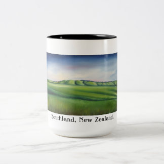 souvenir mug, new zealand mug, Two-Tone coffee mug