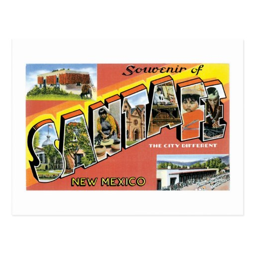 Souvenir of Santa Fe, New Mexico Postcards