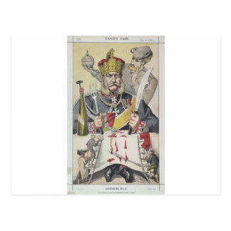 Sovereigns No.80 Caricature of The King of Prussi Postcard