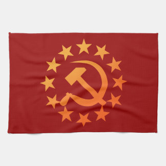 Soviet 3 tea towel