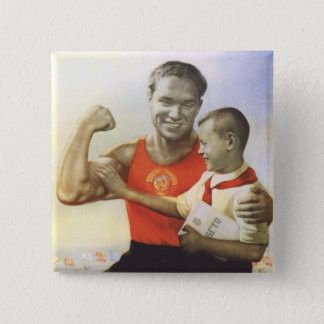 Soviet Athlete 15 Cm Square Badge