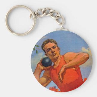 Soviet Athletic Propaganda Basic Round Button Key Ring