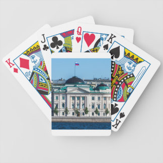 Soviet-era office building bicycle playing cards