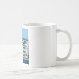 Soviet-era office building coffee mug