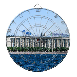 Soviet-era office building dartboard