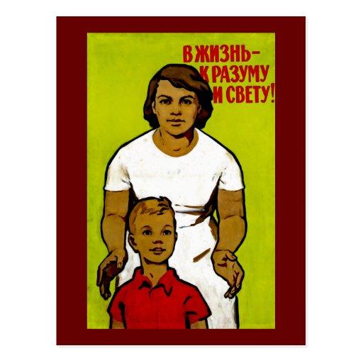 Soviet Family Propaganda Postcards